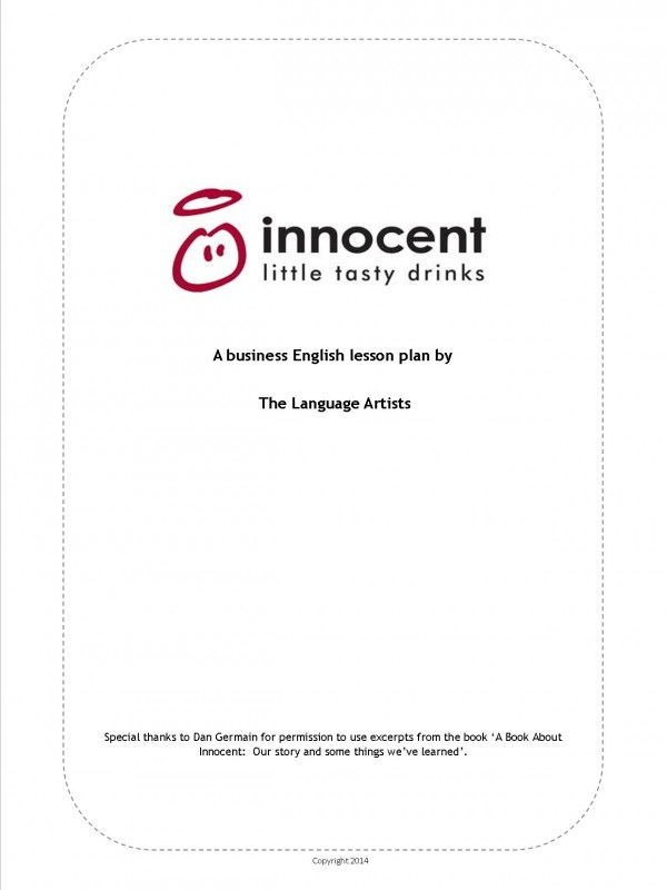 Innocent Drinks Front Cover