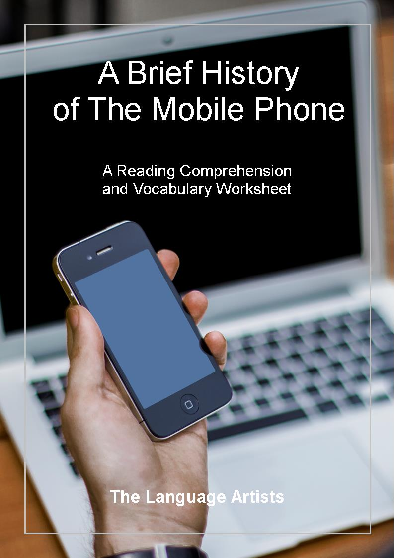 mobile phone reading comprehension and vocabularyenglish